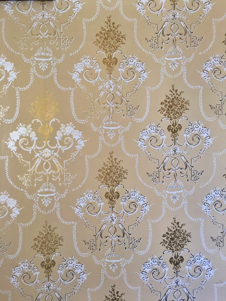the beautiful wallpaper inside the museum