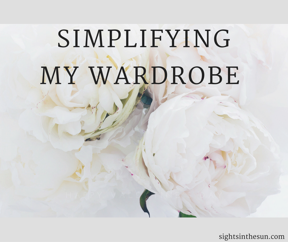 simplifying my wardrobe- Sights in the Sun Life & Style Blog