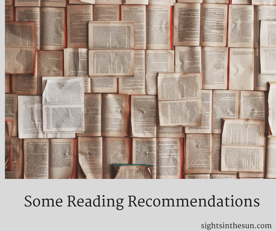Some Reading Recommendations-Sights in the Sun Lifestyle Blog